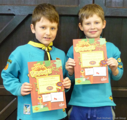 Thursday Beavers Chief Scouts Bronze Award