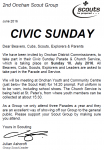 Civic Sunday