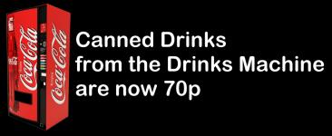 Drinks Machine–Price Increase